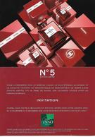"""CHANEL """" N°5 Rouge """" Noël 2018 Carte D'invitation Double Face, En Français - Cartes Parfumées"""