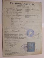 PERSONAL AUSWEIS / LEROY Henriette VILLERS-la-VILLE Née 1865 Mellery ( Zie Foto's Voor Details) ! - Documents