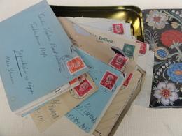 Courrier Carte Postale Lettre Timbre Tampon Reich  1920 - Boites A Timbres