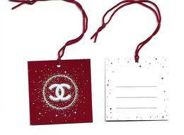 """CHANEL """" N°5 Rouge """" Noël 2018 Mini Carte De Voeux à Accrocher Au Cadeau - Cartes Parfumées"""