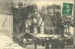 SARZEAU  -- L'église, La Place Le Jour Du Marché                                                    -- David 403 - Sarzeau
