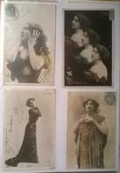 Lot De 4 Cartes Postales Anciennes / OTERO /hb - Femmes Célèbres