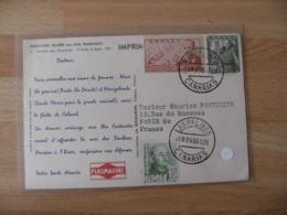 Las Palmas  Trois Timbre Espagne Carte Plasmarine  Biomarine Dieppe - 1931-Heute: 2. Rep. - ... Juan Carlos I
