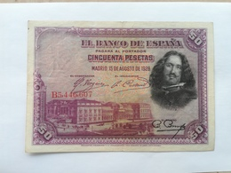 SPAGNA 50 PESETAS 1928 - [ 1] …-1931 : Eerste Biljeten (Banco De España)