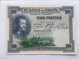 SPAGNA 100 PESETAS 1925 - [ 1] …-1931 : Prime Banconote (Banco De España)