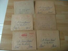 Theme Croix Rouge Lot De 6  Ema Empreinte Machine Affranchir - Poststempel (Briefe)