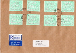 Postal History Cover: Hong Kong R Cover With 8 Rabbit Automat Stamps - Lapins