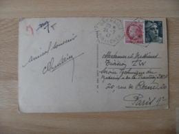 Orchaise Recette Auxiliaire Rurale Obliteration Sur Lettre - Marcophilie (Lettres)