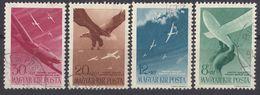 UNGHERIA - 1943 - Serie Completa Usata: Yvert 53/56 Posta Aerea; 4 Valori. - Posta Aerea