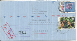 Venezuela Registered Air Mail Cover Sent To Germany 22-11-1969 Topic Stamps - Venezuela