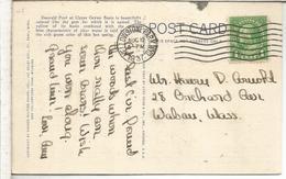 ESTADOS UNIDOS USA TP CON MAT YELOWSTONE PARK GEYSER GEOLOGIA VOLCANO 1937 - Volcanes