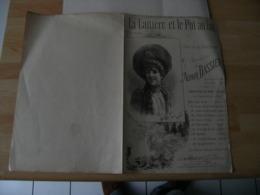 Partition Musique Ancienne Gravure La Laitiere Et Le Pot Au Lait  Edi Maquet - Partitions Musicales Anciennes