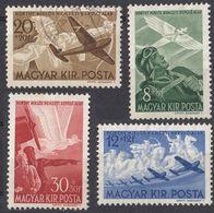 UNGHERIA - 1942 - Serie Completa: Yvert 48/51 Posta Aerea; 4 Valori Usati O Nuovi Senza Gomma. - Luftpost