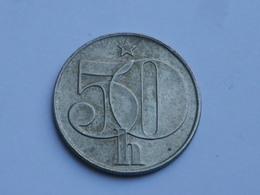 Tchecoslovaquie  50 Haleru  1990   Cupronickel        Km#89      TTB - Tchécoslovaquie