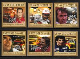 COMORES  N° 2047/52 * *  NON DENTELE  Automobile Formule 1 - Cars