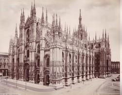MILANO, LA CATTEDRALE. PHOTO BY GIACOMO BROGI. ALBUMINA. SIZE 32.5x25.5cm CIRCA 1870s-BLEUP - Photographs