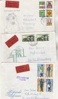 DDR RDA  Lot De 9 Lettres EXPRES De 1985 + 1986 + 1987 - 3 Scan - [6] République Démocratique