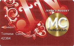 Jerry's Nugget Casino - Las Vegas NV - Slot Card - Cartes De Casino