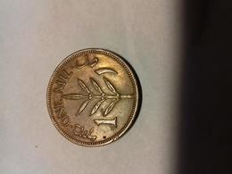 Monnaie Palestine Anglaise 1 Mil - Monnaies
