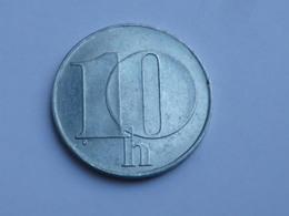 Tchecoslovaquie  10  Haleru  1991   Aluminium    Km#146     TTB++ - Tchécoslovaquie