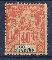 COTE D IVOIRE - 10  40C TYPE GROUPE NEUF SANS GOMME NSG NO GUMMI COTE 35 EUR - Neufs