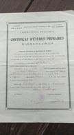 Certificat D'études Primaires. Lille. Ardennes. 1926 - Diplômes & Bulletins Scolaires