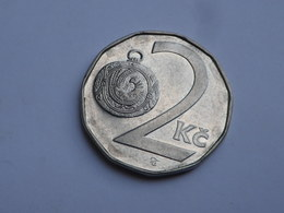 Tchequie 2 Korun 1993  Acier Nickel Km#9  Non Circulée SUP - Tchéquie
