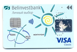 Belarus BelInvestBank Soleil - Cartes De Crédit (expiration Min. 10 Ans)