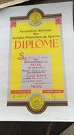 Diplôme. Fédération Nationale De Anciens Prisonniers De Guerre. 1982 - Diplômes & Bulletins Scolaires