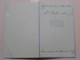Menu  / Dejeuner Mme CABY Marie-Louise COMMUNION 6 Mai 1931 > Zie Foto's ! - Menus