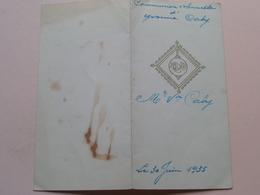 COMMUNION Solenelle D' Yvonne CABY Le 30 Juin 1935 > Zie Foto's ! - Menus
