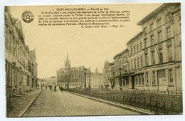 CPA - Carte Postale - Belgique - Saint Nicolas - Marché Au Bois (SV6464) - Saint-Nicolas