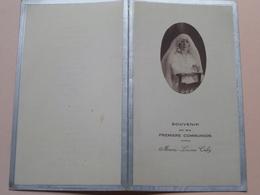 Souvenir De Ma Premiere Communion De Marie-Louise CABY ( DINER ) Le 6 Mai 1931 > Zie Foto's ( Pap. Dubourg Rouen ) ! - Menú