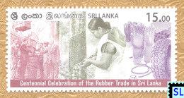 Sri Lanka Stamps 2018, Rubber Trade, MNH - Sri Lanka (Ceylon) (1948-...)