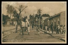 INHAMBANE - Rua Machado Dos Santos ( Ed. J. Pestonjee) Carte Postale - Mozambique