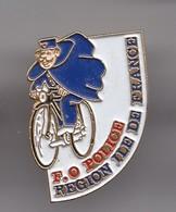 Pin's F O Police Ile De France Policier à Vélo Cycliste Réf 3436 - Police
