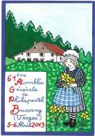 Illustrateur Patrick Hamm 61ème Assemblée Générale De Philapostel Bussang 5-6 Avril 2013 - Hamm
