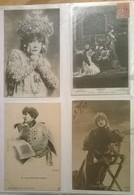 Lot De 4 Cartes Postales Anciennes / SARAH BERNHARDT / 13b Dont 1 Reutlinger - Femmes Célèbres