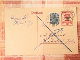 FL2849 Deutsches Reich Ganzsache Stationery Entier Postal P 115 Von Berlin Nach Fürstenberg/Oder - Ganzsachen