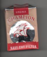 ETUI VIDE DE 20 CIGARETTES  - CHAMPION - NAVY CUT FILTER -  ROTHMANS LTD - LONDON - Boites D'allumettes - Etiquettes