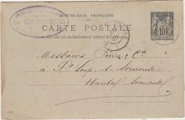 Carte Commerciale 1897 / Entier / Alex. FONFERRIER GRATIUS / Ameublement / 29 Brest - Cartes