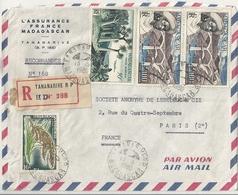 Lettre Aérienne De Madagascar Avec Timbres De Madagascar - Madagascar (1889-1960)