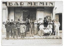 LA CIOTAT - BAR MEMIN - COMITE DES FETES DE CHARITE - JAZZ GERMAIN - DEVANTURE - BOUCHES DU RHONE - PHOTO 17.5 X 12.5 CM - Métiers