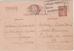 Carte Commerciale  1925 / Entier / Revue Radio Hall / 23 Rue Du Rocher / 75 Paris - Cartes
