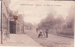 CPA -  WERVICQ SUD (Nord) -  La Rue De Linselles - Francia