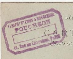 Carte Commerciale  1897 / Entier / POUCHEON / Passementeries / 75 Paris - Cartes
