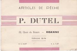 Articles De Peche   P Dutel   Roanne - Advertising