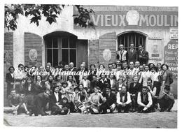 GEMENOS - AUBERGE AU VIEUX MOULIN - MAISON UNION DEPARTEMENTALE SYNDICATS BOUCHES DU RHONE - PHOTO 17 X 12 CM - Métiers