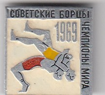 "USSR Pin Badge World Wrestling Championship 1969 ""Soviet Competitors"" - Wrestling"