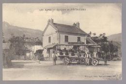 Cpa Du 04-PRUNIERE - La Gare ( Autobus ) - Francia